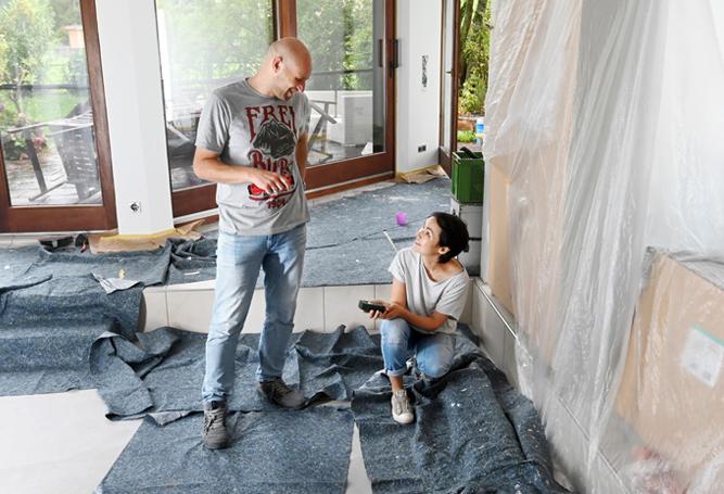neue Wohnung Renovierung Umzug