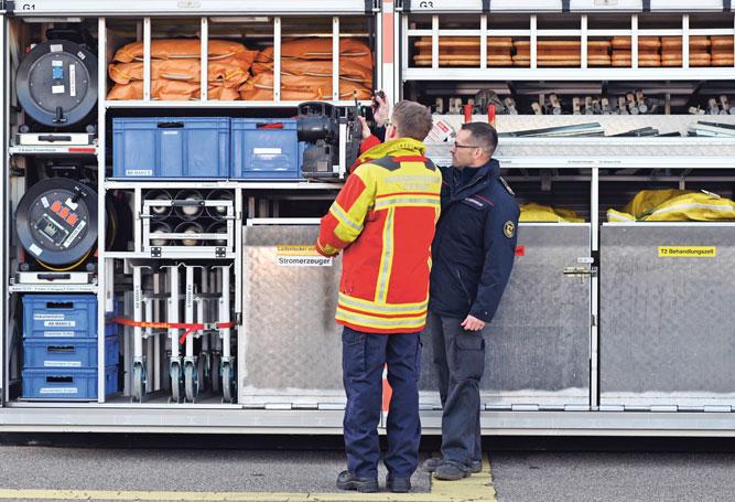 Gefahrenabwehrer Katastrophenschutz Material