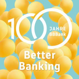100 Jahre BBBank Luftballon gelb Better Banking