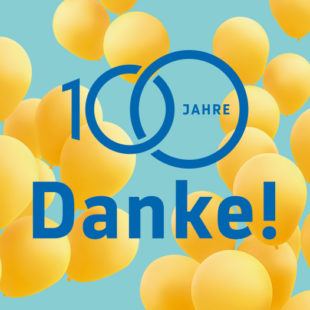 100 Jahre BBBank Luftballon gelb