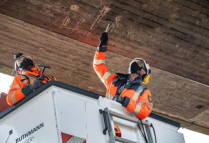 Spannbeton Brückenprüfer Wegbereiter öffentlicher Dienst Schutzkleidung